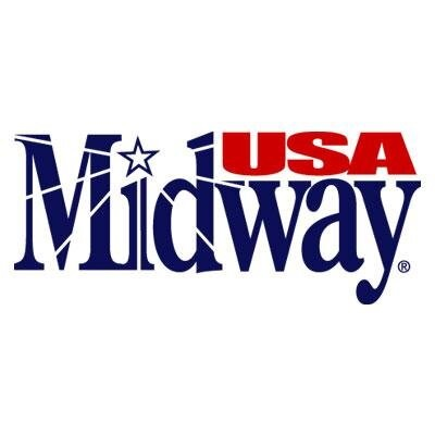 Midway USA blue and red logo